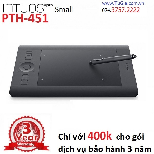Bảng vẽ Wacom Intuos Pro Touch Small PTH-451 (Tặng Wireless Kit)