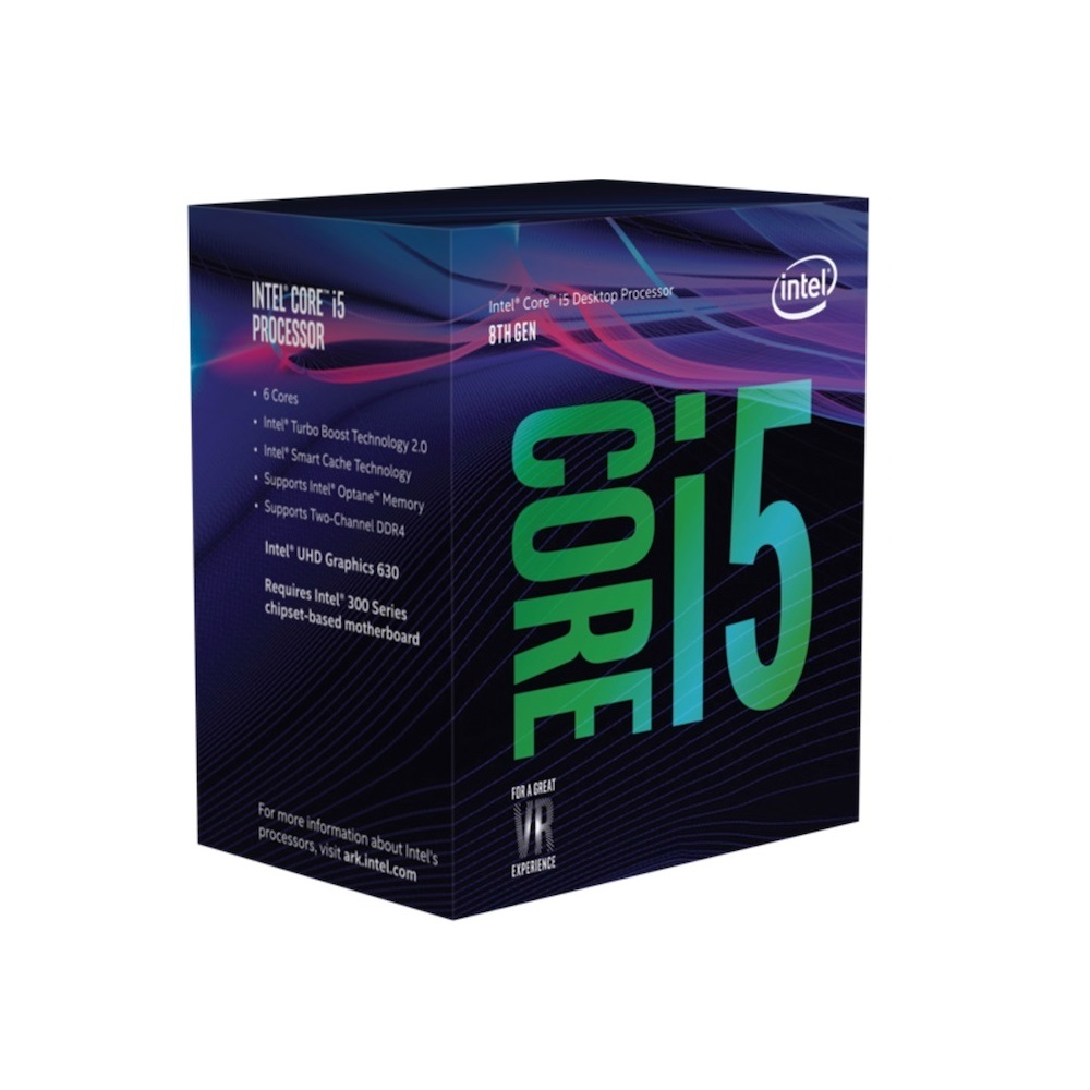 CPU Intel Core i5-8500 (Up to 4.10Ghz/ 9Mb cache) Coffee Lake
