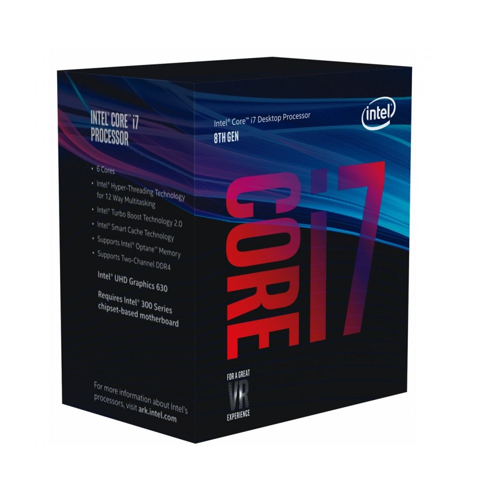 CPU Intel Core i7-8700 (Up to 4.60Ghz/ 12Mb cache) Coffee Lake