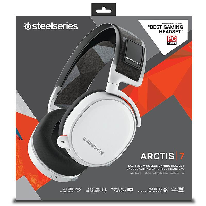 Tai nghe Steelseries - Arctis 7 White 7.1 DTS:Head